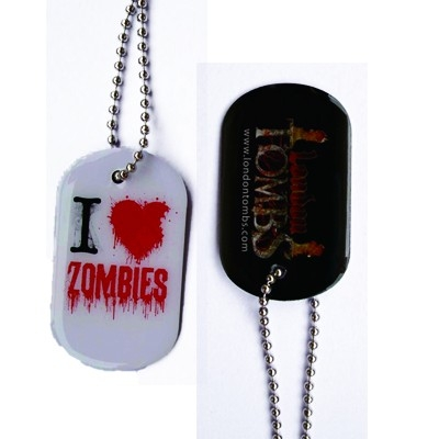 I Love Zombies dog tag